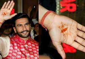 Ranveer Singh flaunts his Mehendi of Deepika Padukone's name; check out