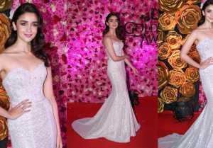 Alia Bhatt makes a fashion statement at Lux Golden Rose Awards 2018