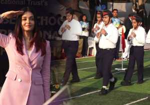 Aishwarya Rai Bachchan looks classy in pink formal attire at Sports Meet event