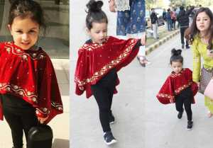 Isha Ambani Wedding: Ziva Dhoni looks super cute in red cape at Udaipur Airport