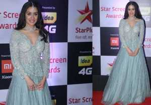 Shraddha Kapoor looks Royal in her desi attire at Star Screen Awards 2018