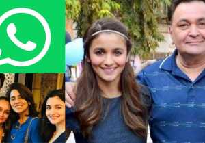 Ranbir Kapoor adds Alia Bhatt to his family WhatsApp group