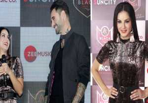 Sunny Leone looks sassy with Daniel Weber at the launch of her new song Lovely Accident