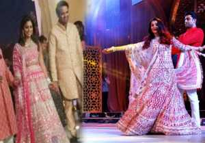 Aishwarya Rai dances with Abhishek Bachchan at Isha Ambani's Sangeet Ceremony