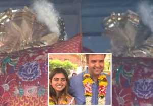Isha Ambani Wedding: Anand hides face from camera