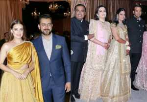 Isha Ambani Reception: Dia Mirza arrives with husband Sahil Sangha; Watch Video