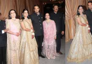 Isha Ambani Reception: All you need to know about Isha's Golden lehenga