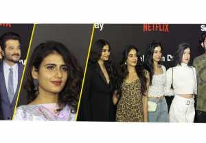 Netflix Red Carpet : Jhanvi Kapoor, Khushi Kapoor Anil Kapoor & other attends; UNCUT