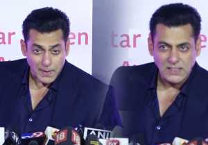 Salman Khan enjoys with media during Star Screen Awards 2018; Watch Video