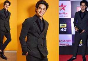 Ishaan Khattar looks handsome as he arrives at Star Screen Awards 2018