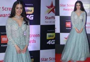 Shraddha Kapoor looks Royal in her desi attire at Star Screen Awards 2018