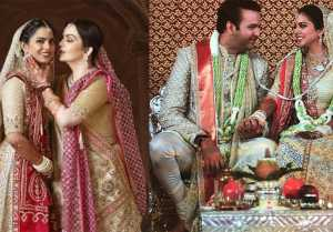 Isha Ambani carries Nita Ambani's THIS 35YearOld Saree with her Wedding dress
