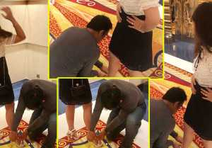 MS Dhoni wins Heart, Helps Wife Sakshi Dhoni to wear Sandals