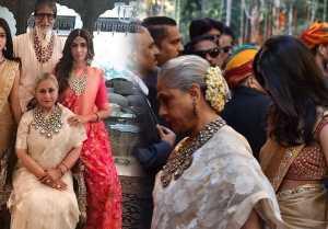 Isha Ambani Wedding: Amitabh Bachchan reaches with Jaya, Shweta and Navya Nanda