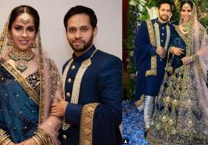Saina Nehwal & Parupalli Kashyap look stunning in Reception; Watch video