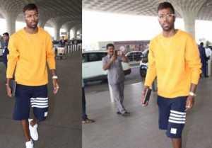 Hardik Pandya spotted at Mumbai Airport after Koffee with Karan Controversy