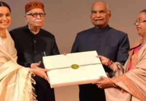 Kangana Ranaut Felicitated by President Ram Nath Kovind at Manikarnika special screening