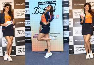 Jacqueline Fernandez slays in Sporty Outfit as she attends Skechers' Shoe Launch
