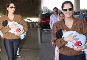 Sania Mirza looks adorable at airport with son Izhaan; Watch Video