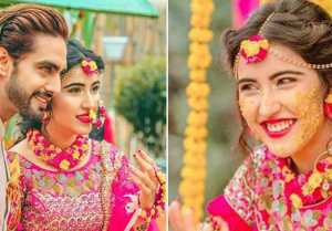 TV actors Sheena Bajaj & Rohit Purohit's Haldi  Mehendi pics ahead of wedding goes viral