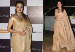 Dia Mirza walks in elegant style as she attends producer Ramesh Taurani's birthday bash