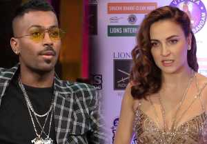 Elli Avram reacts on Hardik Pandya's Koffee With Karan 6 controversy; Watch Video