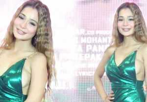 Sara Khan looks glamorous in high thigh slit dress at her film look launch; Watch Video