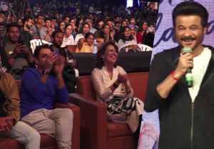Anil Kapoor promotes film Ek Ladki Ko Dekha Toh Aisa Laga at a college