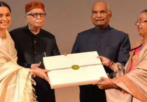 Kangana Ranaut Felicitated by President Ram Nath Kovind at Manikarnika special screening