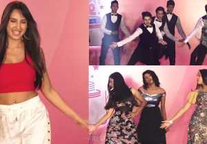Nora Fatehi enjoys at Mumbai City Finale of College Talent Hunt; UNCUT