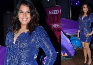 Richa Chadda looks gorgeous in short dress at shakeela's calendar launch