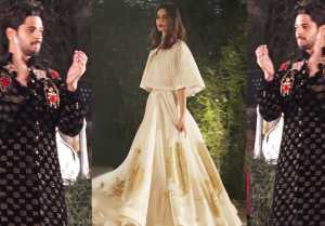 Sidharth Malhotra & Diana Penty walk the ramp for Rohit Bal in stylish way; Watch Video