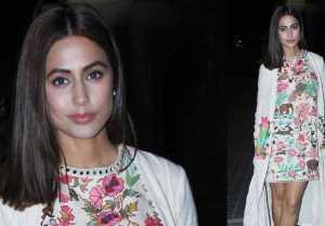 Hina Khan looks Happy after watching Aamir Khan's Rubaru Roshni ; Watch video