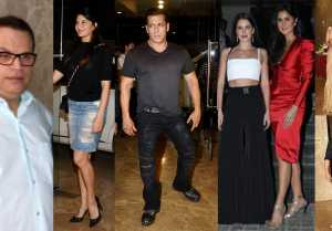 Salman Khan, Katrina Kaif, Dia Mirza & others attend Ramesh Taurani Birthday; Watch video