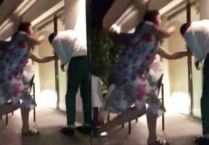 Akshay Kumar beaten by wife Twinkle Khanna; Watch Video