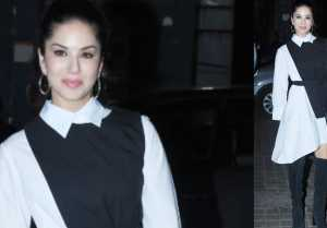 Sunny Leone attends the screening of Rubaru Roshni in classic style