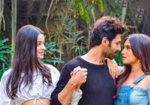 Kartik Aaryan, Bhumi Pednekar & Ananya Panday romance in Pati Patni Aur Woh