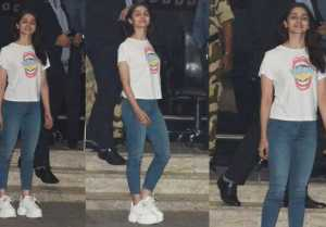 Alia spotted at Mumbai airport in her Casual style; Watch Video