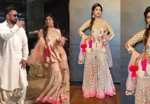 Shilpa Shetty dances with husband Raj Kundra at sisterinlaw's sangeet ceremony