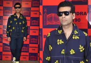 Karan Johar looks stunning in button down jacket at Lifestyle and Fashion pop up exhibit