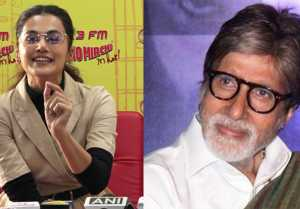Taapsee Pannu praises Amitabh Bachchan at Badla movie Promotion; Watch Video
