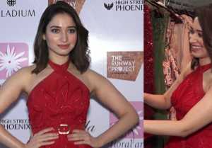 Tamannaah Bhatia spotted  in Red outfit at a Fashion Event; Check out