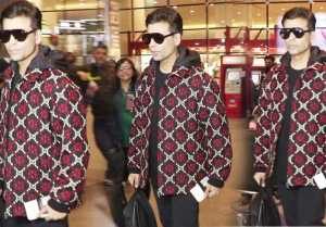 Karan Johar and Sudesh Berry Spotted at Mumbai Airport: Watch Video