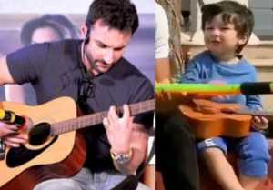 Taimur Ali Khan looks like Rock Star while playing guitar; Check Out
