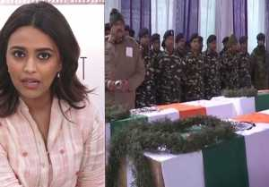 Pulwama: Swara Bhaskar shows anger on Pulwama incident ; Watch video