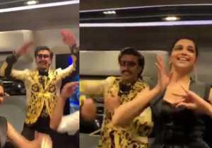 Deepika Padukone & Ranveer Singh's Dance on Varun Dhawan & Alia Bhatt's Kalank songs