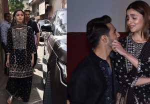Alia Bhatt looks beautiful in black chikankari sharara at song launch of Kalank