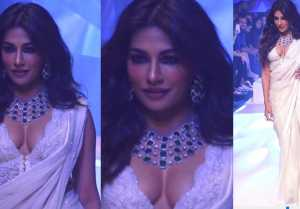 Chitrangada Singh dazzles on ramp at Bombay fashion Week