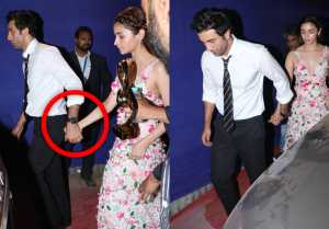 Ranbir Kapoor Holds Alia Bhatt's Hands At Zee Cine Awards; Watch video