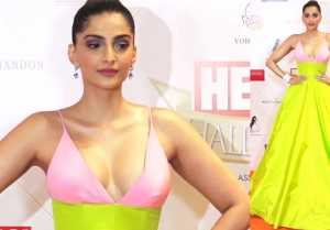 Sonam Kapoor graces at Red Carpet Hello Hall Awards in Bold Look; Watch Video